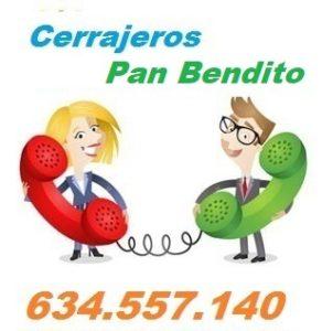 Telefono de la empresa cerrajeros Pan Bendito